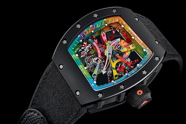 全球限量30块!理查德米勒RM6801彩色喷绘手表