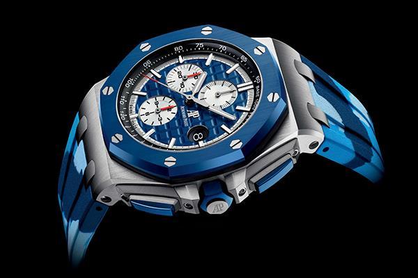 藍色憂郁,愛彼皇家橡樹離岸型手表藍色表盤