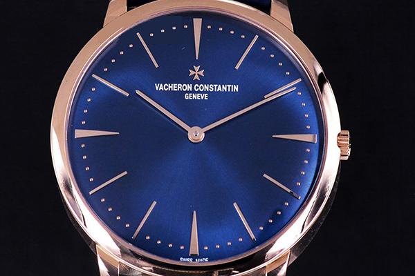 高端绅士的最佳选择 江诗丹顿传承系列蓝盘计时器