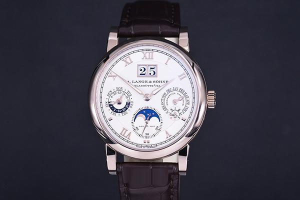 离开月球表面 朗格SAXONIA系列蜂蜜金月相表盘手表品鉴