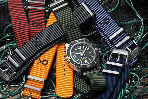 2019全新百年灵海洋OUTERKNOWN ECONYL系列NATO纱带手表