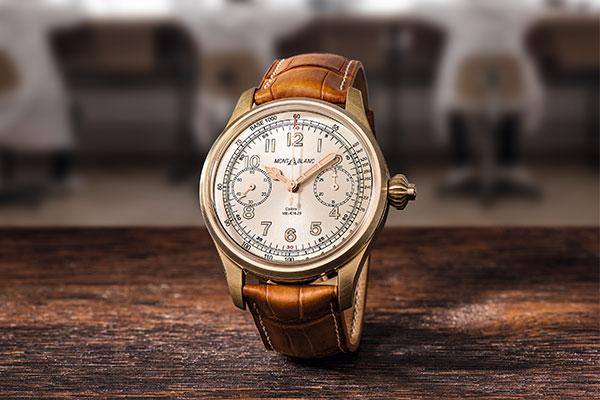 回收一款简洁复古的万宝龙自动手表