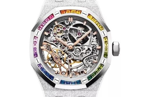 手表回收价格,哪里回收爱彼皇家橡树系列双摆轮镂空手表?
